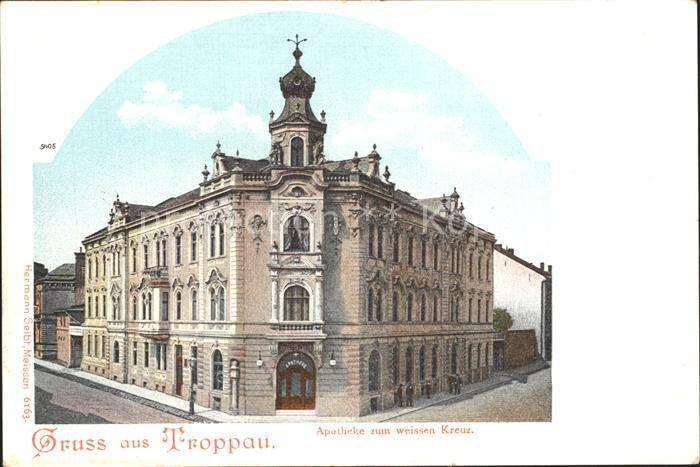 Troppau Sudetengau Apotheke zum Weissen Kreuz / Opava /