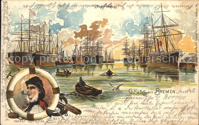 Bremen Segelschiffe im Hafen / Bremen /Bremen Stadtkreis