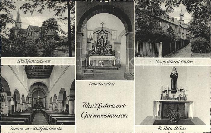 Germershausen Wallfahrtskirche Gnadenaltar / Rollshausen /Goettingen LKR