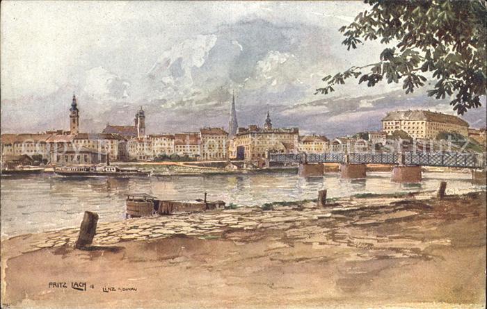 Linz Donau Partie an der Donau / Linz /Linz-Wels