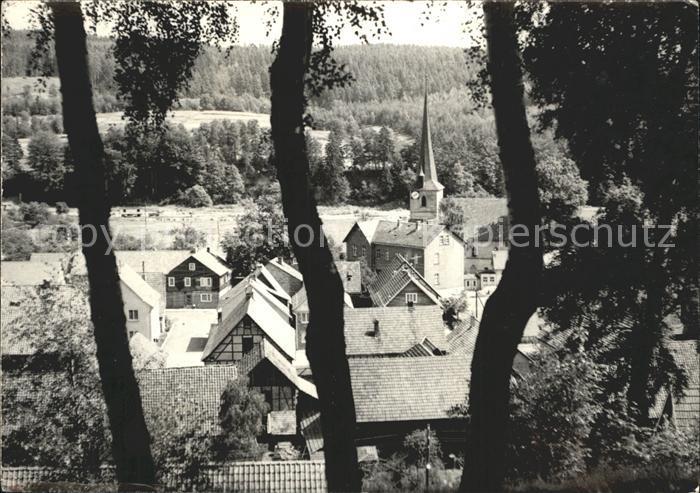 Waldau Thueringen Stadtansicht / Nahetal-Waldau /Hildburghausen LKR