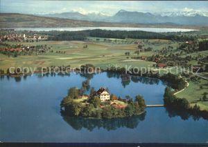 Mauensee Schloss Fliegeraufnahme / Mauensee /Bz. Sursee