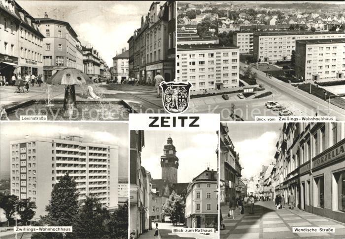 Zeitz Wendische Strasse Leninstrasse Rathaus / Zeitz /Burgenlandkreis LKR