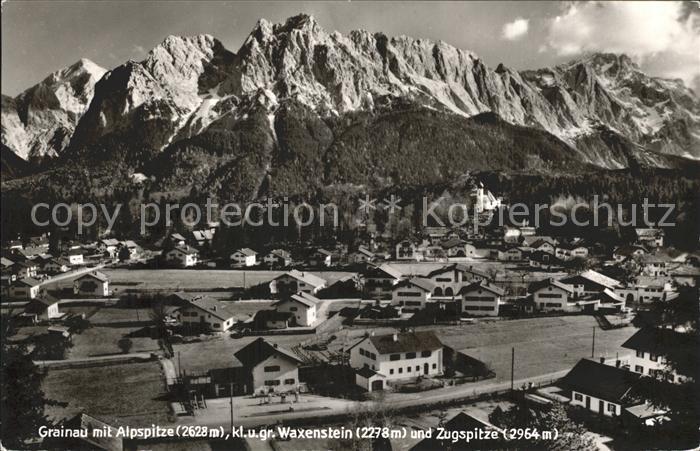 Grainau Alpspitze Waxenstein Zugspitze / Grainau /Garmisch-Partenkirchen LKR