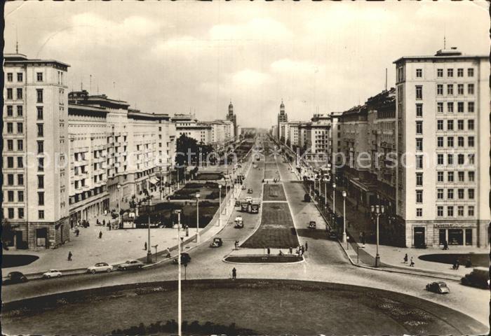 Berlin Stalinallee Blick nach Osten / Berlin /Berlin Stadtkreis