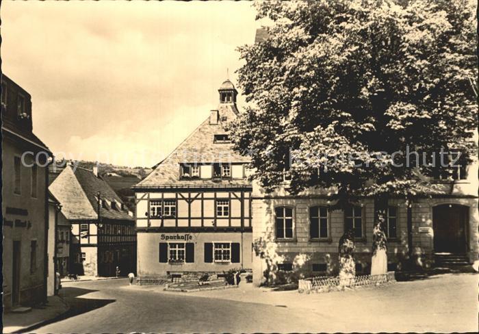 Geising Erzgebirge Rathaus Saitenmacherhaus und Zentralschule / Geising Osterzgebirge /Saechsische Schweiz-Osterzgebirge LKR