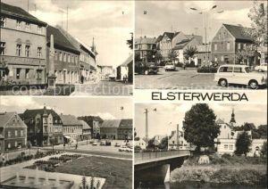 Elsterwerda Postmeilensaeule Hauptstrasse und Marktplatz  / Elsterwerda /Elbe-Elster LKR
