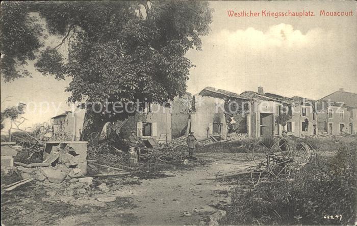 Mouacourt Westlicher Kriegsschauplatz Truemmer 1. Weltkrieg / Mouacourt /Arrond. de Luneville