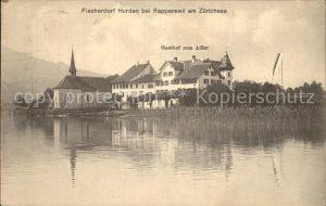 Hurden Fischerdorf am Zuerichsee / Hurden /Bz. Hoefe
