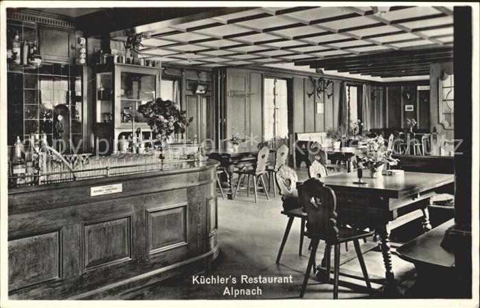 Alpnach Dorf Kuechlers Restaurant Gastraum / Alpnach Dorf /Bz. Obwalden