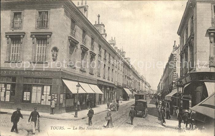 Tours Indre-et-Loire La Rue Nationale / Tours /Arrond. de Tours