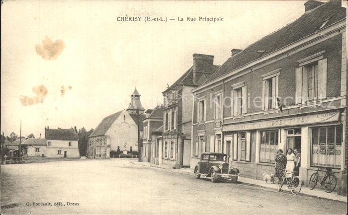 Cherisy d Eure-et-Loir La Rue Principale / Cherisy /Arrond. de Dreux