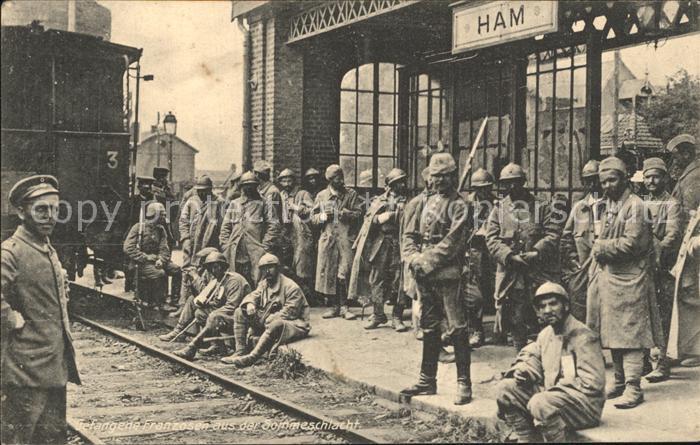 Ham Somme Soldaten am Bahnhof / Ham /Arrond. de Peronne