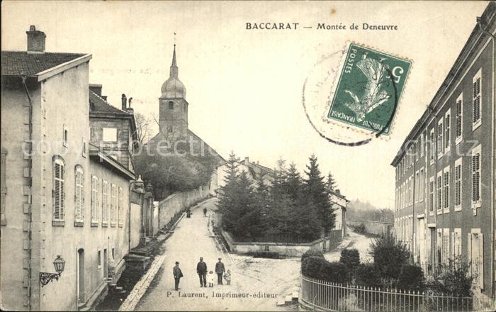 Baccarat Montee de Deneuvre Eglise Stempel auf AK / Baccarat /Arrond. de Luneville