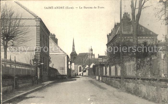 Saint-Andre-de-l Eure Le Bureau de Poste / Saint-Andre-de-l Eure /Arrond. d Evreux