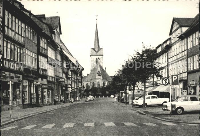 Duderstadt Marktstrasse mit St Servatius Kirche Kat. Duderstadt