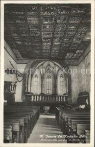 Zillis Inneres der Kirche mit Deckengemaelde Kat. Zillis