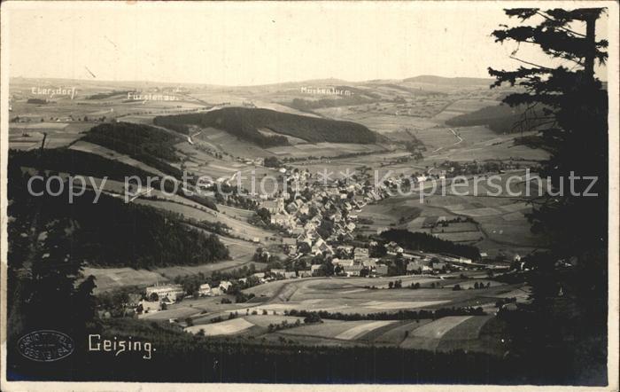 Geising Erzgebirge Totalansicht Kat. Geising Osterzgebirge