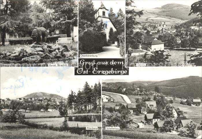 Baerenfels Erzgebirge Oberbaerenburg Schellerhau Altenberg Kat. Altenberg