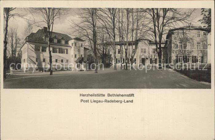 Liegau Augustusbad Herzheilstaette Bethlehemstift Kat. Radeberg