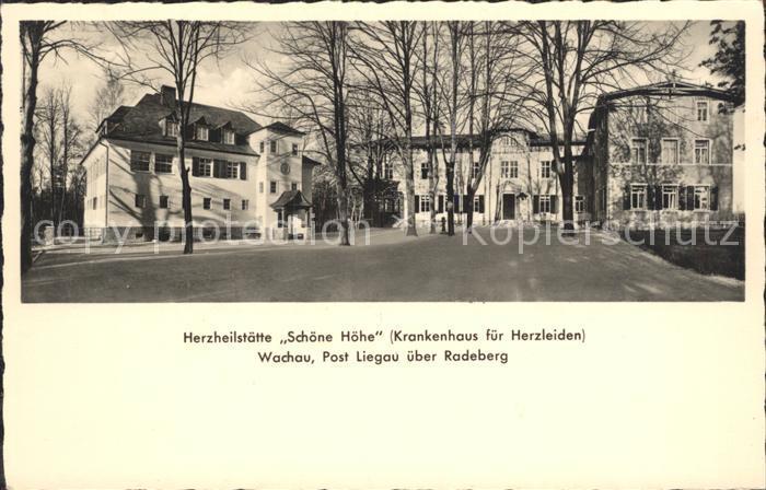 Liegau Augustusbad Herzheilstaette Schoene Hoehe Kat. Radeberg