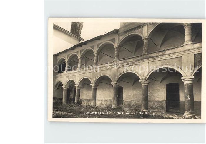 Venthone Schloss Anchette Cour Chateau de Preux Kat. Venthone