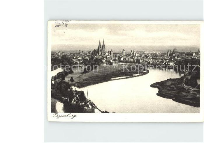 Regensburg Donau Ortsansicht Kat. Regensburg