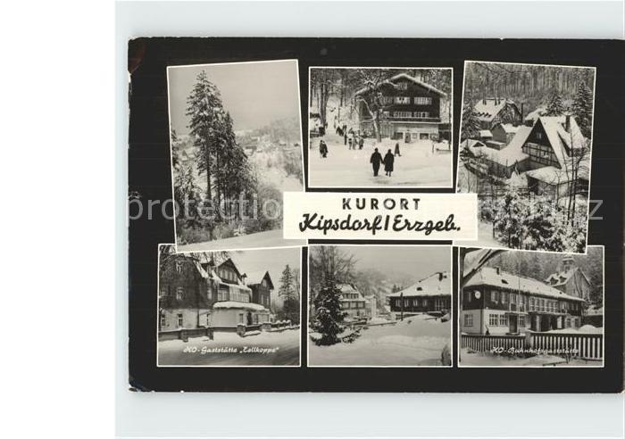 Kipsdorf HO Gaststaette Tellkoppe HO Bahnhofsgaststaette Kat. Altenberg