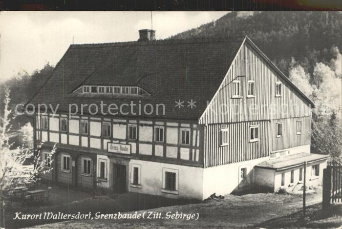 Waltersdorf Zittau Grenzbaude Kat. Grossschoenau Sachsen