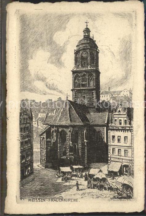 Meissen Elbe Sachsen Frauenkirche Kat. Meissen