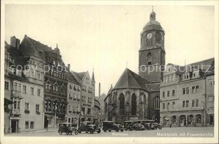 Meissen Elbe Sachsen Marktplatz Frauenkirche Kat. Meissen