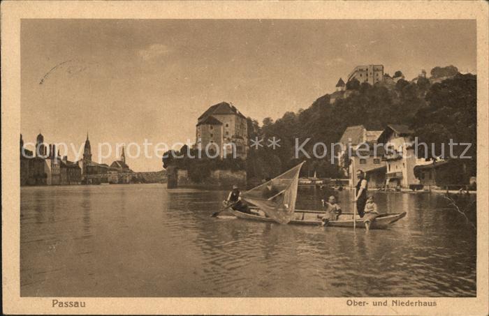 Passau Oberhaus Niederhaus Veste Zusammenfluss von Ilz und Donau Kat. Passau