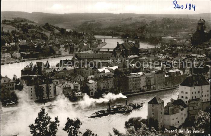 Passau Altstadt Dreifluessestadt Dampfer Kat. Passau