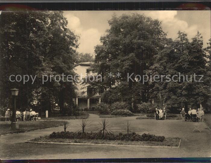 Kreischa Parkanlage am Wismut Sanatorium Kat. Kreischa Dresden 0