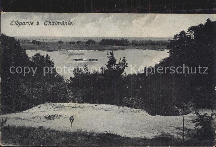 Elbe Elbe Partie Thalmuehle Wendtland Kat. Elbe
