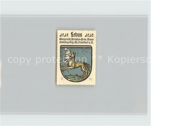 Lebus Koenigreich Preussen Bezirk Frankfurt Oder Wappen Kat. Lebus