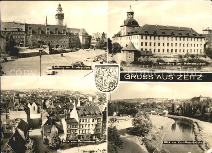 Zeitz Moritzburg Rathaus Friedensplatz  Kat. Zeitz