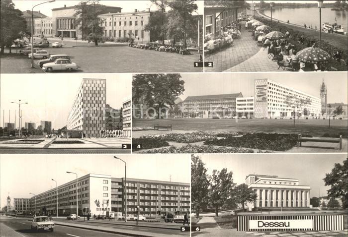 Dessau Rosslau Hauptbahnhof Wilhelm Pieck Strasse August Bebel Strasse  Kat. Dessau Rosslau