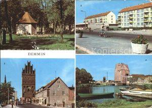 Demmin Mecklenburg Vorpommern Marienhain Neubauten Markt Luisentor Hafen  Kat. Demmin