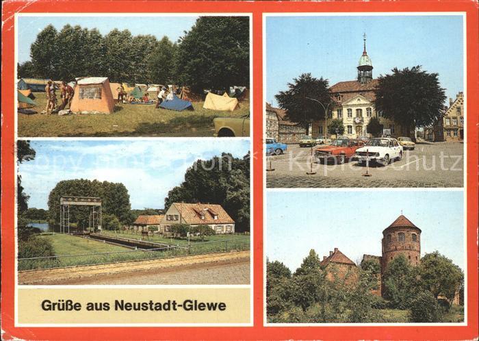 Neustadt Glewe Campingplatz Schleuse Rathaus Burg  Kat. Neustadt Glewe
