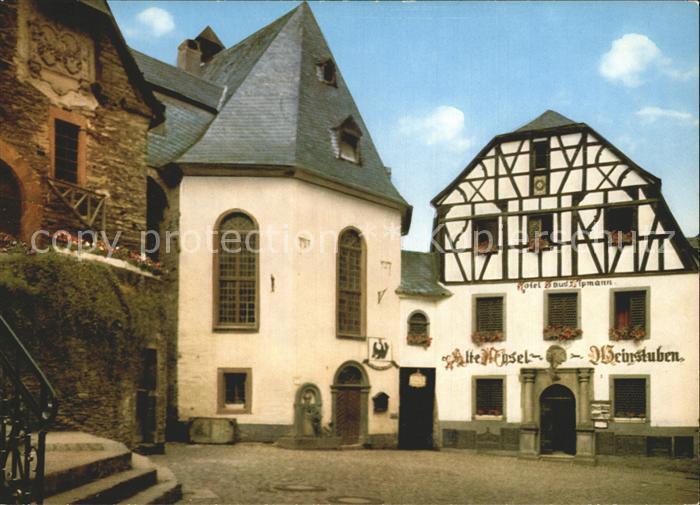 Beilstein Mosel Marktplatz Alte Pfarrkirche und Zehnthaus Kat. Beilstein