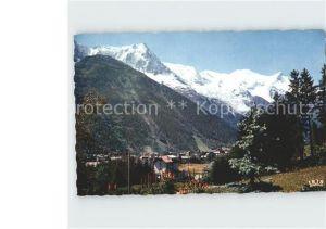 Chamonix Vue generale et le Mont Blanc Kat. Chamonix Mont Blanc