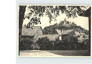 Wernigerode Harz Ortsblick mit Schloss Wernigerode Kat. Wernigerode