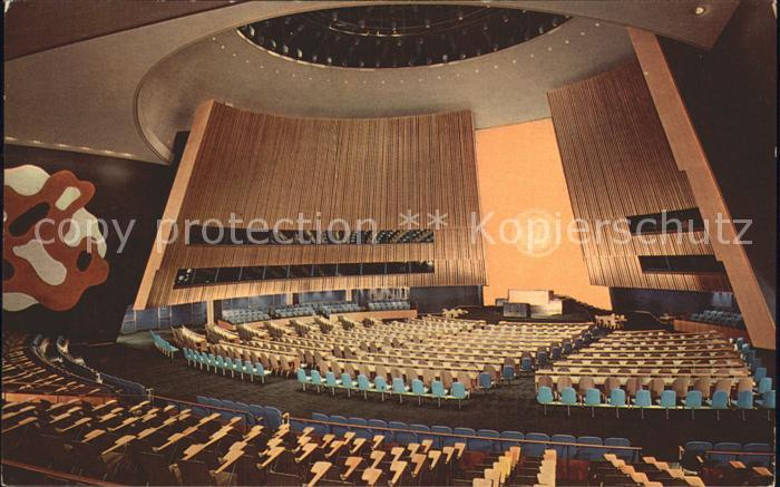New York City United Nations Headquarters Assembly Hall