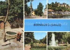Bernburg Saale Schloss Baerenzwinger Kurhaus Rosengarten Kat. Bernburg