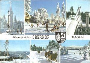 Oberhof Thueringen Sprungschanze Pferdeschlitten Kat. Oberhof Thueringen