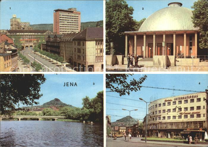 Jena Zeiss Hochhaus Planetarium Paradiesbruecke Interhotel International Kat. Jena