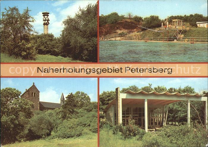 Petersberg Halle Fernsehturm Bergbad Kirche Kat. Petersberg Halle