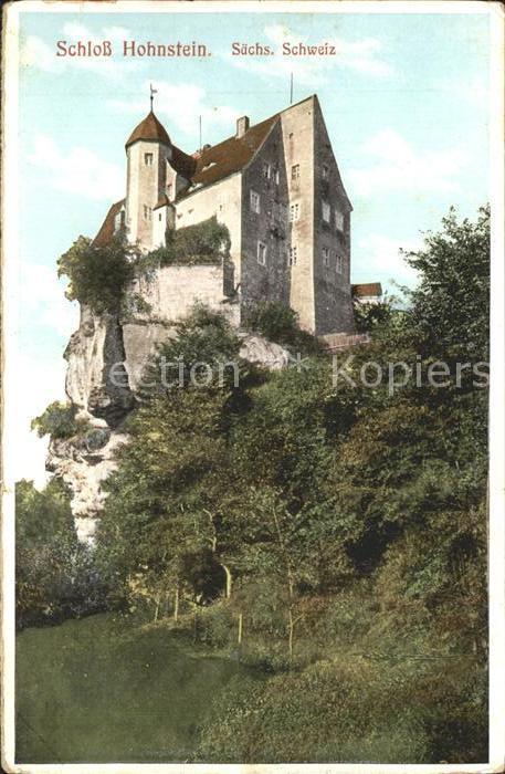 Hohnstein Saechsische Schweiz Burg Hohnstein Kat. Hohnstein