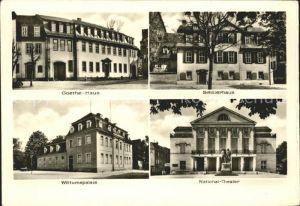 Weimar Thueringen Goethe Haus Schillerhaus Wittumspalais National Theater  Kat. Weimar